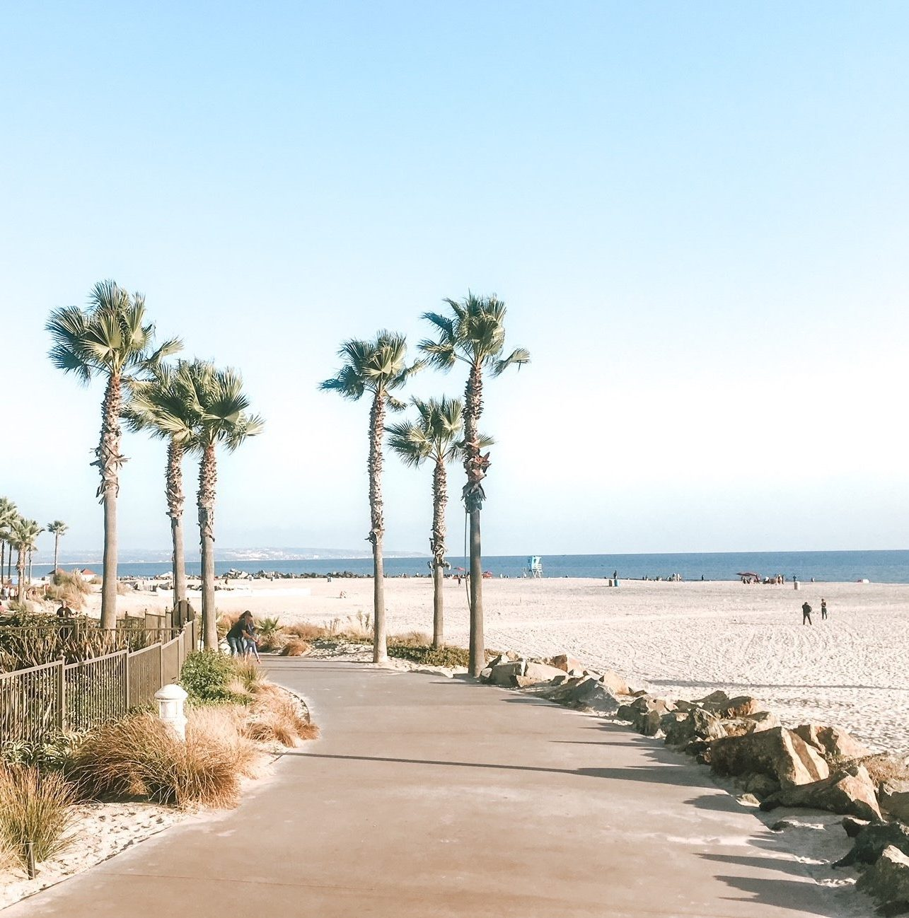 Spend the day at Coronado Beach during your girls' getaway in San Diego.
